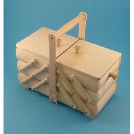 Kazeta na šití dřevěná rozkládací