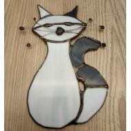 Kočka šedá - Vitráže Tiffany