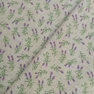 Bavlna hladká levandule na béžové