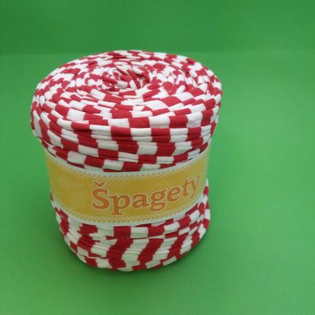 Spagety červená-bílá