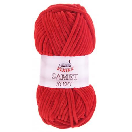 Samet Soft 237 červená